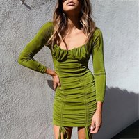Women Autumn Winter Bandage Dress Womens Sexy Long Sleeve Slim Elastic Bodycon Party Mini Dresses Vestidos Streetwear Casual