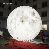 إضاءة نفخ كوكب رمادي القمر 3M / 6M عملاق شنقا / الأرض شخصية حزب بالون لحفل المرحلة والديكور