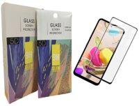 Pellicola protettiva integrale in vetro temperato nero per Samsung A72 A52 A32 A12 A02S S20 Fe M51 M21 A71 A51 A31 A21 A71 A51 A31 A21 A11 A11 A01 A21S T-mobile TCL Revvl 5G 4+ con pacchetto