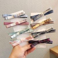 Bow Włosiane Wyprojektowanie Hairpin Japanese Grid Word Hairclip Duckbill Clip Backhead Bangs Clip Fryzura