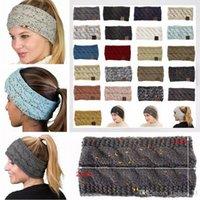 21Colors Knitted Beanie Crochet Headband Women Winter Sports Headwrap Hairband Turban Head Band Ear Warmer Beanie Cap Headbands YD0382