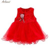 옷 꽃 무늬 인쇄 여자 아기 레이스 드레스 코튼 O- 목 민소매 캐주얼 꽃 공주 파티 어린이의 드레스