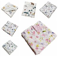 Baby Beanie Blankets Newborn Stroller Sleep Cover Infant Bedding Quilt Swaddling Wrap Toddler Nap Blanket CGYA251