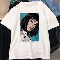 Zoganki Kadınlar Tops T Gömlek Spoof Kişilik Moda Harajuku Yaz Rahat Gevşek Giyim Kadın Tee