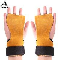 Suporte de pulso FDBRO envolve antiderrapante desgaste desgaste pulseira de pulseira dura grip cinto de couro cuidado de couro palma Proteção