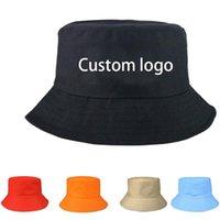 Wide Brim Hats Custom Bucket Hat Logo Summer Women's Outdoor Sun Protection Fisherman Double Side Panama Climbing Beach Visser Cap