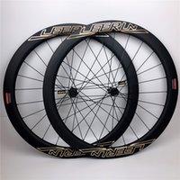 Rodas de Carbono de Alta Qualidade 700c 38mm 50mm Tubeless Clincher com Spokes Pilar Novatec 411/412 Hubs Disc Wheelset