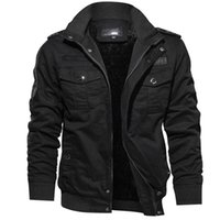 Men's Jackets Autumn Winter Standing Collar Fleece Thick Cotton Washable Jacket Plus Size Motorcycle Clothings Windbreakers