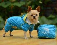 Dog Apparel Big SALE Double Layer Raincoat Clothes For Small Dogs Waterproof Pet Rainsuit Jumpsuit Price Xs-xl