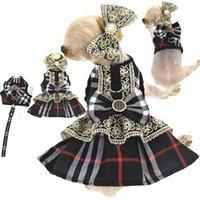 خمر لوليتا نمط الكلب الملابس الكلاسيكية الرباط bowknot الحيوانات الأليفة اللباس أزياء سترات المقاود دعوى ل تيدي شنوار الفرنسية البلدغ