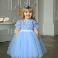 Summer Pretty Girls Dress Birthday Party Princess Lace Forma...