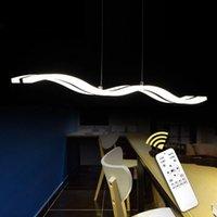 Modern LED Kolye Işık Yemek Lambası Için Oturma Odası Mutfak 97 CM 38 W Akrilik Tavan Monte Asılı Lambalar