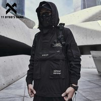 11 Bybb's Dark Tark Cargo The Tark Cargo Coats Streetwear Tactical Function Plowover Harajuku Multi-Pocket Hoodbory Windreaker Coats X0710
