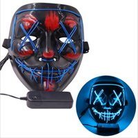 Maschera di Halloween Led Light Up Party Masks The Spurge Election Year Great Funny Masks Festival Costume Cosplay Forniture Glow in Dark 493 R2