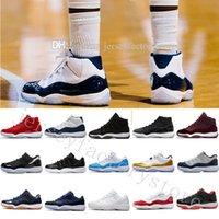 무료 싼 새로운 남성 신발 11s 11 마이애미 허리케인 농구 신발 망 11s 녹색 오렌지 스니커즈 미국 5.5-13 EUR 36-47 상자