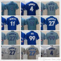 2021 прошитый бейсбол 27 Владимир Герреро Jr. Jerseys Blue 4 George Springer 11 B BOICHETTE 99 HYUN-JIN RYU JERSEY серый белый пустой номер нет номера для человека