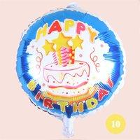 18 polegadas feliz aniversário coração bolas de ar alumínio balões de festa decorações crianças hélio balão festas suprimentos eeb5816