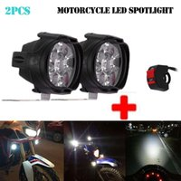 Faróis de carro 2 pcs 6 LED Motocicleta Farol de Nevoeiro Destino Lâmpada de Luz com Interruptor de Alta Qualidade Super Bright Spot #bc