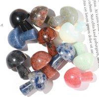 Factory Christmas Decorations Mushroom-Shape Chakra Stones, Natural Healing Crystals Agate Stone Quartz Chakras Reiki, Yoga, Flower BWA8767