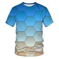 Летний Новый Мужская Футболка Trend 3D Цифровая Печать с коротким рукавом Экстремальная спортивная футболка с коротким рукавом.