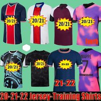 Mailleots de Football Soccer Jerseys 2021 2022 Pre Match Training Florenzi 20 21 22 MBappe Icardi Camisetas Futbol Shirt Verratti مجموعات باريديس الرابعة Marquinhos
