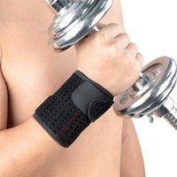 Защитная запястья Поддержка Регулируемый браслет наручники волейбол Теннис спортивный вес подъемный ремешок фитнес тренажерный зал спортивные локтя колена