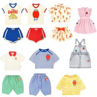 Clothing Sets Brand Kids Clothes 2021 Summer Boys T-Shirts Pants Cartoon Toddler Sweatshirt Girls Boutique Outfits Infant Baby Tees