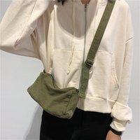 Adolescent mini toile téléphone portable sac à main filles filles haute rue hip hop hip hop écologie coton tissu petite taille sling sac de messager sac de croix