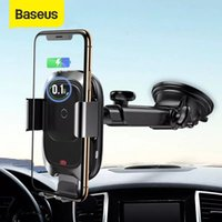 Baseus 10W Wireless Charger Auto Car Phone Holder For iPhone 12 11 Pro Xs Max XR Car Phone Satnd For 4-6.5 inch Smartphone