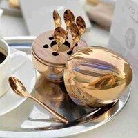 Casa Muebles Conjuntos de cubiertos Trendy Christofle Paris Mood Cofebe Coffe Coffee Kit Placa de té de huevo de acero inoxidable