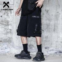 Shorts masculinos 11 bybb os corredores de carga escura homens zipper funcional multi bolsos streetwear no joelho de verão comprimento techwear calças curtas