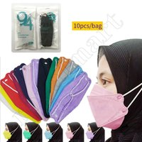 In Stock Fish Shaped Protective Disposable Face Masks 10pcs lot 4-layer 94 Mask DHL Fast Free Delivery