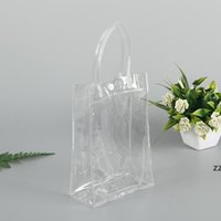Organizadores da porta do armário 15 * 20 cm transparente PVC sacola plástica snap shopping saco de compras HWD7459