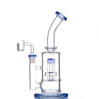 2021 Hookah Bong Bong Glass DAB Rig Agua Bongs Tubos de humo 8-10 pulgadas Altura 14.4mm Junta femenina con banger de cuarzo