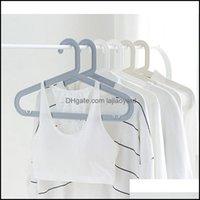 Hangers Clothing Housekee Organization Home Gardenhangers & Racks Dry Wet Anti-Slip Plastic Adt Hanger Windproof Reusable Towel Clothes Dryi