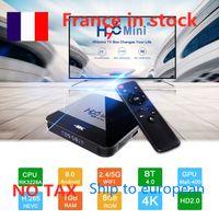 Francia en stock 10pcs lote H96 Mini H8 2GB 16GB Android 9.0 OTT TV Box RK3228A Quad Core Dual WiFi 2G + 5G