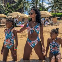 Mother Daughter Matching Swimsuits Mommy And Me Bikini Clothes Family Look Mom Daughter Bathing Suit Family Matching Swimwear 2294 V2