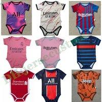 Real Madrid Bebê Jersey 2021 Bebê Jersey Jersey 6-18 Meses Camisa de Futebol Terno de Rasta
