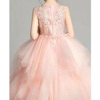 2021 poncho princess dress wedding flower girl show birthday children's performance