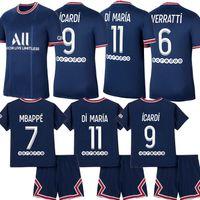 Maillots 2021 الرابع Mbappe icardi Soccer Jerseys 20 21 22 قمصان كرة القدم 4th Florenzi Verratti Kits Kids Marquinhos Oryms