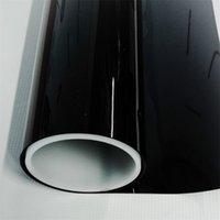 5% VLT 50cm600cm dunkelschwarz fenster flack film glas auto auto haus kommerziellen dekorativen filmschutzschutz solarfolie t191112