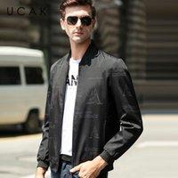 Giacche da uomo Ucak lettera di marca Blouson Homme casual uomo abbigliamento streetwear vestiti giacca primavera arrivo cerniera cappotto U8066