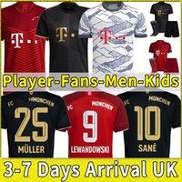 2021 2022 Bayern Soccer-Jerseys Upamecano Pavard Zirkzee Goretzka Neuer Müller Lewandowski München Sane Kimmich 21 22 Football Hemd Spieler-Version Full Set Kinder