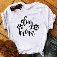 Women's T-Shirt Women Fur Dog Paw Mom Print T Shirt Summer Fashion Funny Animal Pet Lady Clothing Graphic Womens O-neck Tops H2J5