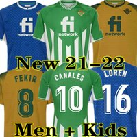 Canales 21 22 Real Betis Soccer Jerseys 2021 2022 Fekir Loren Joaquin B. Iglesias Juanmi Football Shirt Guardado C. Tello William Men Jersey Kids Kit Kit