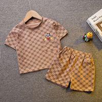 0-5 лет летний мальчик одежда набор одежды 2021 новая повседневная мода активный мультфильм футболка + пастдички детские дети детские малыш мальчик одежда