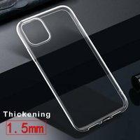 Transparent Phone cases For iPhone 12 Max 11 Pro Xs XR X SE 7 8 plus Clear Soft TPU back Cover