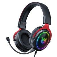 ONIKUMA X10 PC Gaming Headsets RGB Fones de ouvido com fio com microfone destacável Bass estéreo Over-Head Feadphone para computador PS4 Xbox