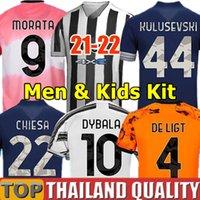 RONALDO DYBALA 20 21 Juventus JUVE maillots de foot 4ème x PALAIS ensemble de maillot de football DE LIGT DYBALA RAMSEY 2020 Quatrième Hommes Kit enfants uniformes