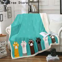 Série d'animaux épaissir une couverture 3D imprimante numérique chat canapé canapé canapé couverture couverture flanelle couvertures enfants enfants literie cadeaux